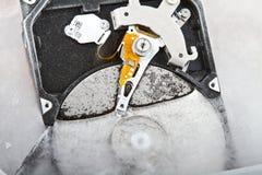 Chiuda su di un disco rigido congelato Immagine Stock Libera da Diritti