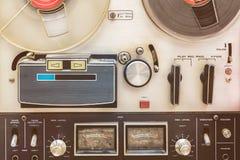Chiuda su di un registratore d'annata fotografia stock