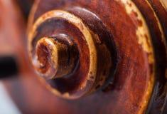 Chiuda su di un rotolo del violino Immagini Stock Libere da Diritti