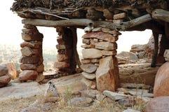 Chiuda in su di un togu-Na nel paese di Dogon Fotografie Stock Libere da Diritti