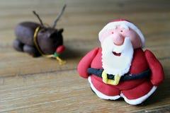 Chiuda su di una casa resa al padre Christmas del sugarcraft, o a Santa Cl Immagine Stock Libera da Diritti