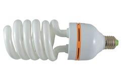 Chiuda su di una lampadina della luce fluorescente, Immagine Stock