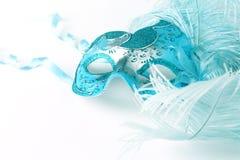 Chiuda su di una maschera di carnevale Fotografia Stock Libera da Diritti