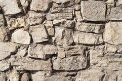 Chiuda su di una mattone-parete, fondo di struttura Immagine Stock