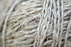 Chiuda su di una palla di struttura della corda Fotografia Stock