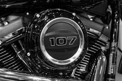 Chiuda su di una parte del motociclo immagini stock