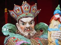 Chiuda su di una statua nel Wong Tai Sin Temple in Hong Kong, Cina fotografia stock