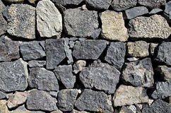 Chiuda su di vecchia struttura della parete di pietra Fondo d'annata del mattone di architettura Fotografia Stock