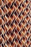 Chiuda su di vecchio cuscinetto marrone sporco della carta della cellulosa o della c evaporativa immagini stock