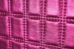 Chiuda su fondo di cuoio rosa immagini stock libere da diritti