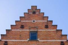 Chiuda su muratura tradizionale Bruges Immagine Stock