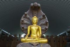 Chiuda su per la statua di Buddha fotografie stock libere da diritti