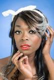 Chiuda su Pin Up Girl Fotografia Stock Libera da Diritti