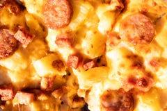 Chiuda su pizza fotografie stock libere da diritti