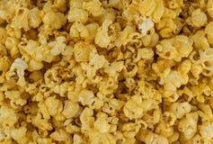 Chiuda su popcorn nella vista superiore per fondo Immagine Stock Libera da Diritti