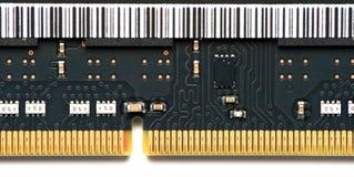 Chiuda su RAM Chip elettronico Fotografie Stock Libere da Diritti
