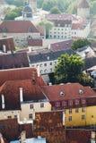 Chiuda su sui tetti Fotografia Stock