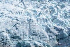 Chiuda su sul ghiacciaio di Bossons, in Chamonix Mont Blanc Massif, le alpi Francia Immagine Stock