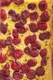 Chiuda in su sul grafico a torta della ciliegia Fotografia Stock