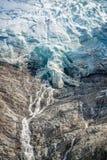 Chiuda su sul più inferiore del ghiacciaio di Bossons, in Chamonix Mont Blanc Massif, le alpi Francia Fotografia Stock