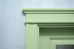 Chiuda su un elemento del door& x27; modanatura di s Fotografie Stock