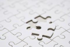 Chiuda su un pezzo finale di puzzle Immagini Stock Libere da Diritti