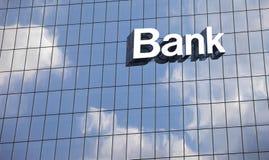 Chiuda su un segno della banca immagine stock libera da diritti