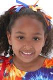 Chiuda su una bella ragazza di sei anni immagine stock libera da diritti