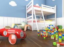 Chiuda sui giocattoli nella stanza dei children´s Fotografia Stock
