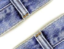 Chiuda sui jeans del denim Fotografia Stock