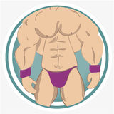 Chiuda sui muscoli Fotografia Stock