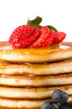 Chiuda sui pancake Immagini Stock Libere da Diritti
