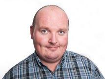 Chiuda sul bloccaggio del ritratto del maschio di peso eccessivo fotografia stock libera da diritti