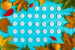 Chiuda sul calendario del novembre 2017 Fotografie Stock