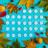 Chiuda sul calendario del novembre 2017 Fotografie Stock Libere da Diritti