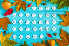 Chiuda sul calendario del novembre 2017 Fotografia Stock