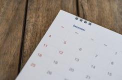 Chiuda sul calendario su legno Fotografia Stock Libera da Diritti