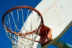 Chiuda sul cerchio di pallacanestro Fotografie Stock