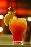 Chiuda sul cocktail rosso da frutta Fotografia Stock Libera da Diritti