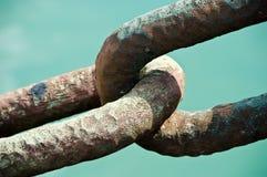 Chiuda sul collegamento Chain Fotografie Stock