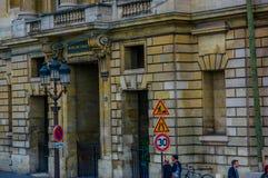 Chiuda sul colpo del dettaglio dell'architettura a Parigi Fotografie Stock