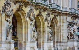 Chiuda sul colpo del dettaglio dell'architettura, teatro dell'opera di Parigi Fotografia Stock