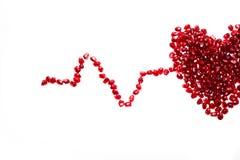 Chiuda sul colpo a macroistruzione dei semi del melograno Immagini Stock Libere da Diritti