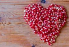 Chiuda sul colpo a macroistruzione dei semi del melograno Fotografia Stock Libera da Diritti