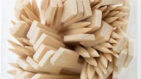 Chiuda sul cucchiaio di legno Immagini Stock