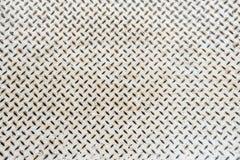 Chiuda sul dettaglio del fondo di struttura del pavimento del metallo bianco Fotografia Stock