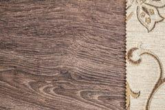 Chiuda sul dettaglio di struttura crema del tessuto di colore Fotografia Stock