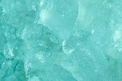 Chiuda sul fondo blu dell'estratto di stile del tono del mare congelato ghiaccio fotografia stock libera da diritti