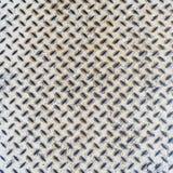 Chiuda sul fondo di struttura del pavimento del metallo bianco Fotografie Stock Libere da Diritti