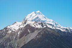Chiuda sul punto di vista del cuoco di Mt in Nuova Zelanda Immagini Stock